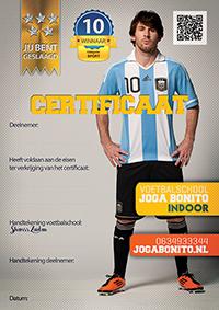 Certificaat Lionel Messi
